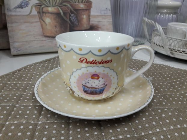 TAZZA DA LATTE CON PIATTINO